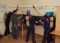 Занятия по высотной подготовке спасателей